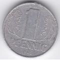 """1 пфенниг. 1960 г. ГДР. """"A"""". 12-4-195"""