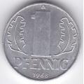 """1 пфенниг. 1968 г. ГДР. """"A"""". 12-4-200"""