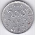 "200 марок.1923 г. Германия. ""G"". 12-4-249"