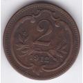 2 геллера. 1912 г. Австро-Венгрия. 12-4-265