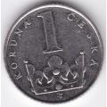 1 крона. 1995 г. Чехия. 12-5-323