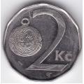 2 кроны. 2001 г. Чехия. Гомбик. 12-5-324
