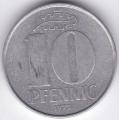 """10 пфеннигов. 1972 г. ГДР. """"А"""". 7-4-457"""