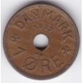 1 эре. 1937 г. Дания. 10-4-658