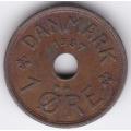 1 эре. 1937 г. Дания. 10-4-661