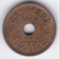 1 эре. 1937 г. Дания. 10-4-663