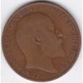 1 пенни. 1906 г. Великобритания. 10-4-666