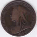 1 пенни. 1899 г. Великобритания. Королева Виктория. 10-4-667