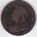 1 пенни. 1899 г. Великобритания. Королева Виктория. 14-5-280