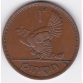 1 пенни. 1941 г. Ирландия. Домашняя курица. 14-5-282