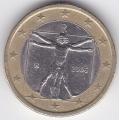 1 евро. 2006 г. Италия. 11-3-184
