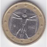 «Витрувианский человек» на 1 евро