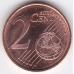 2 евроцента. 2000 г. Финляндия. 5-2-680