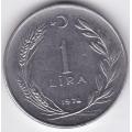 1 лира. 1975 г. Турция. 4-4-390