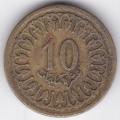 10 миллимов. 1960 г. Тунис. 4-4-393