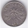 10 центов. 1987 г. Сингапур. 4-4-402