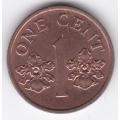 1 цент. 1995 г. Сингапур. Орхидея. 4-4-409