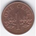 1 цент. 1995 г. Сингапур. Орхидея. 4-4-410