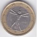 1 евро. 2002 г. Италия. 4-5-219