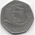 1 даласи. 1998 г. Гамбия. Африканский узкорылый крокодил. 4-5-230