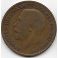 1 пенни. 1920 г. Великобритания. 8-3-383