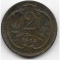 2 геллера. 1914 г. Австро-Венгрия. 8-3-390