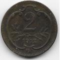 2 геллера. 1913 г. Австро-Венгрия. 8-3-391