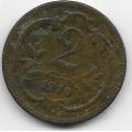 2 геллера. 1910 г. Австро-Венгрия. 8-3-393