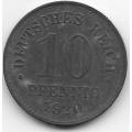 10 пфеннигов. 1920 г. Германия. 5-1-418