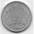 1 злотый. 1976 г. Польша. 5-1-435