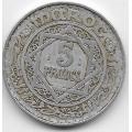 5 франков. 1951 г. Марокко. 5-3-673