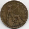 1 пенни. 1919 г. Великобритания. 5-3-697