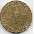 5 франков. 1977 г. Западная Африка. 16-5-375