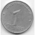 """1 пфенниг. 1953 г. ГДР. """"A"""". 7-7-186"""