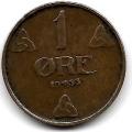 1 эре. 1933 г. Норвегия. 7-6-319