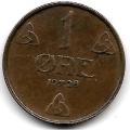 1 эре. 1928 г. Норвегия. 7-6-324