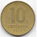 10 сентаво. 1992 г. Аргентина. 18-5-187