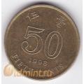 50 центов. 1998 г. Гонконг. 18-2-2
