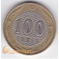 100 тенге. 2005 г. Казахстан. 18-2-28