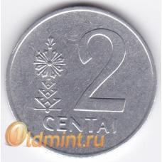 2 цента. 1991 г. Литва. 18-2-37