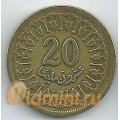 20 миллимов. 1960 г. Тунис. 18-3-52