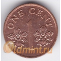 1 цент. 1995 г. Сингапур. 4-1-59