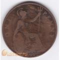 1 пенни. 1917 г. Великобритания. 4-2-94