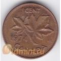1 цент. 1974 г. Канада. 4-2-314