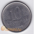 10 сентаво. 1997 г. Бразилия. 4-2-336