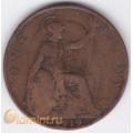 1 пенни. 1919 г. Великобритания. 4-4-184