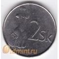 2 кроны. 2007 г. Словакия. 4-4-286