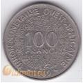 100 франков. 1969 г. Западная Африка. 4-4-323