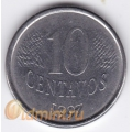 10 сентаво. 1997 г. Бразилия. 4-5-61