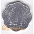 1 цент. 1999 г. Карибские острова. 11-2-14